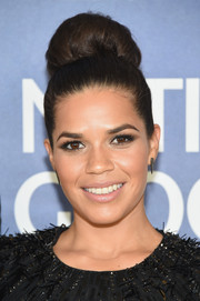 America Ferrera went for retro elegance with this voluminous high bun at the new season premiere of 'Years of Living Dangerously.'