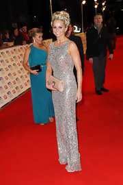 This form-fitting sequined dress was enchanting on Jennifer Ellison.
