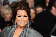 Lauren Goodger wore her hair in an updo of pinned curls and face-framing strands at the National Television Awards.