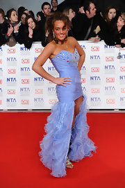 Josie wore this lilac fishtail dress on the National Television Awards' red carpet.