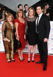 Laura Carmichael looked classy in a lace detailed LBD at the 2012 National Television Awards.