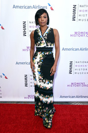 Gabrielle Union looked charming in a fitted floral gown by Erdem at the Women Making History Awards.