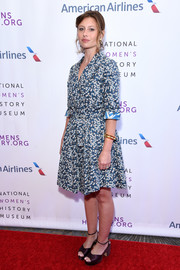 Alyson Michalka looked fetching in a floral wrap dress by Topolina at the Women Making History Awards.