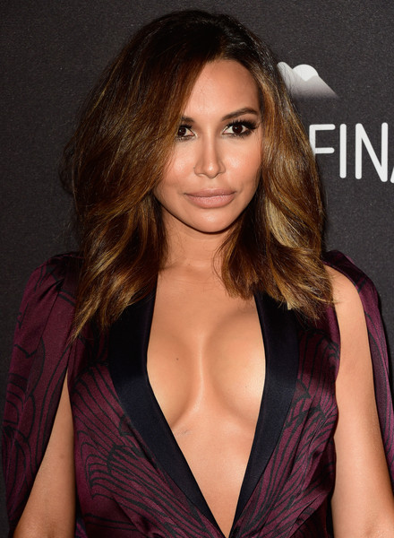 Naya Rivera Nude Lipstick [hair,hairstyle,brown hair,layered hair,beauty,long hair,eyebrow,blond,lip,fashion model,naya rivera,post-party - arrivals,beverly hills,california,the beverly hilton hotel,instyle,warner bros. 73rd annual golden globe awards,warner bros. 73rd annual golden globe awards post-party]