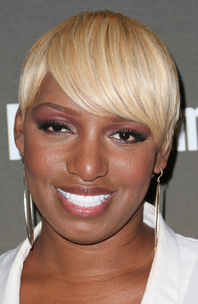 NeNe Leakes Short Cut With Bangs [face,hair,eyebrow,hairstyle,blond,chin,forehead,cheek,lip,head,arrivals,nene leakes,west hollywood,california,entertainment weekly,entertainment weekly pre-emmy party,fig olive]