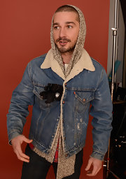 Shia LaBeouf looked rugged in his fur-lined denim jacket at the 2013 Sundance Film Festival.