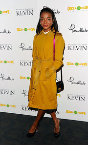 Genevieve Jones wore fun black patent leather pumps with Lucite heels to the 'We Need To Talk About Kevin' screening.