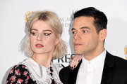 Lucy Boynton rocked a black mani at the Nespresso British Academy Film Awards nominees party.