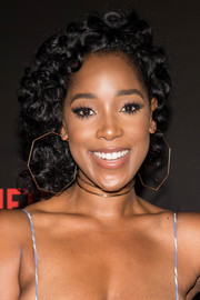 Ashley Blaine Featherson looked adorable with her curly 'do at the 'Dear White People' FYC event.