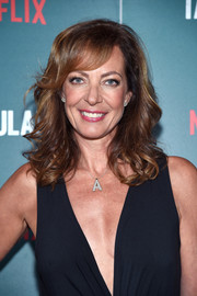 Allison Janney styled her hair with feathery curls and side-swept bangs for the special screening of 'Tallulah.'