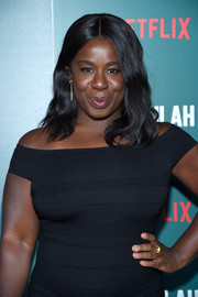 Uzo Aduba framed her face with soft waves for the special screening of 'Tallulah.'