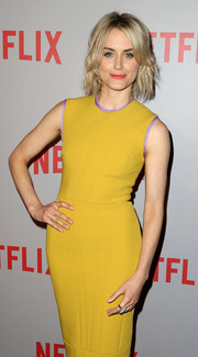 Taylor Schilling wore a gorgeous gemstone ring by Vhernier at the 'Orange is the New Black' FYC screening.