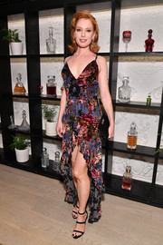 Alicia Witt went girly in a high-low floral dress by Raisa & Vanessa at the premiere of 'Orange is the New Black' season 7.