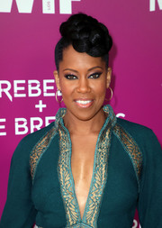 Regina King rocked a funky braided updo at the Netflix Rebels and Rule Breakers FYC event.