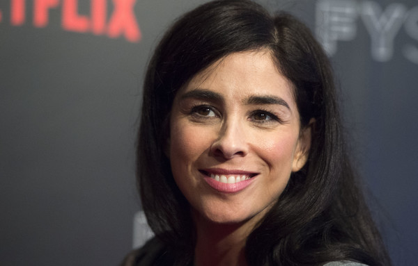 More Pics of Sarah Silverman Long Side Part (1 of 6) - Long Hairstyles Lookbook - StyleBistro [hair,face,eyebrow,forehead,chin,lip,hairstyle,cheek,smile,black hair,arrivals,sarah silverman,author,producer,writer,a speck of dust,for your consideration,netflix,event,event]