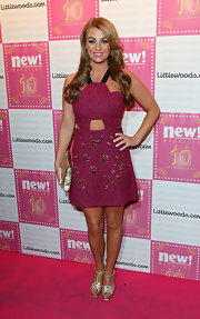 Billi Mucklow showed off her edgy side with this pink cutout dress.