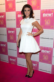 Lucy Mecklenburgh's white A-line dress made her look sweet and feminine on the red carpet.