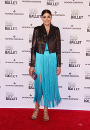 Rachel Roy completed her look with fierce gold chain sandals.