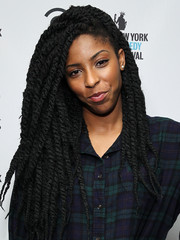 Jessica Williams styled her hair into thick dreadlocks for the New York Comedy Festival kick-off party.