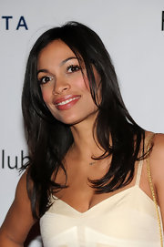 Rosario Dawson showed off her long layered cut while attending a New York City event.