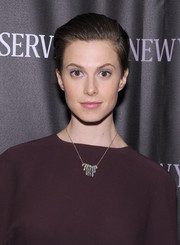 Elettra Wiedemann wore a slicked-back 'do at the New York Observer relaunch event.
