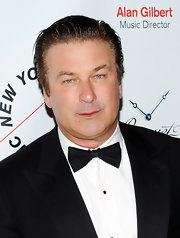 Alec Baldwin showed off a sleek bow tie at a gala in New York.