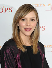 Katharine McPhee completed her look with a swipe of deep red lipstick.
