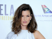 Hanneli Mustaparta wore sexy-glam high-volume waves at the premiere of 'Mandela: Long Walk to Freedom.'