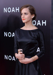 Emma Watson wore a delicately elegant gold cuff bracelet by Aurelie Bidermann to the NYC premiere of 'Noah.'