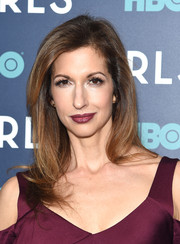 Alysia Reiner was stylishly coiffed with this side-parted 'do at the New York premiere of the final season of 'Girls.'