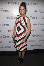 Savannah Guthrie looked mod in a geometric-print dress while attending the New Yorker's White House Correspondents' Association Dinner pre-party.