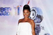 Nia Long Glows in White BCBG Max Azria at the BET Awards