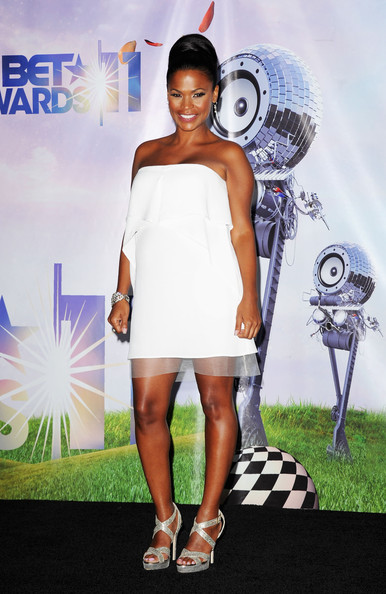 Nia Long Strapless Dress