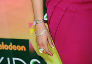 Gage Golightly mixed these silver bracelets for the Kids' Choice Awards.