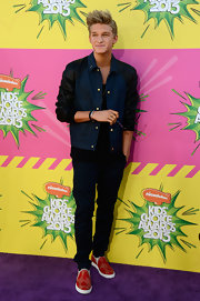 Cody Simpson chose this denim and leather jacket for his 'bad boy'-inspired look at the KCAs.