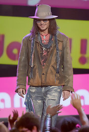Johnny Depp pulled off this distressed-hippie leather jacket in only a way Johnny Depp can.