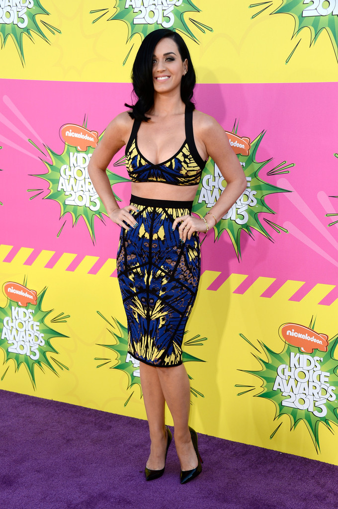Singer Katy Perry arrives at Nickelodeon's 26th Annual Kids' Choice Awards at USC Galen Center on March 23, 2013 in Los Angeles, California.