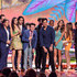 Actors Nathan Kress, Noah Munck, Victoria Justice, Drake Bell, Avan Jogia, Matt Bennett, Josh Peck, Leon Thomas III, Daniella Monet, Maree Cheatham, Ariana Grande and Cameron Ocasio speak onstage during Nickelodeon's 27th Annual Kids' Choice Awards held at USC Galen Center on March 29, 2014 in Los Angeles, California.