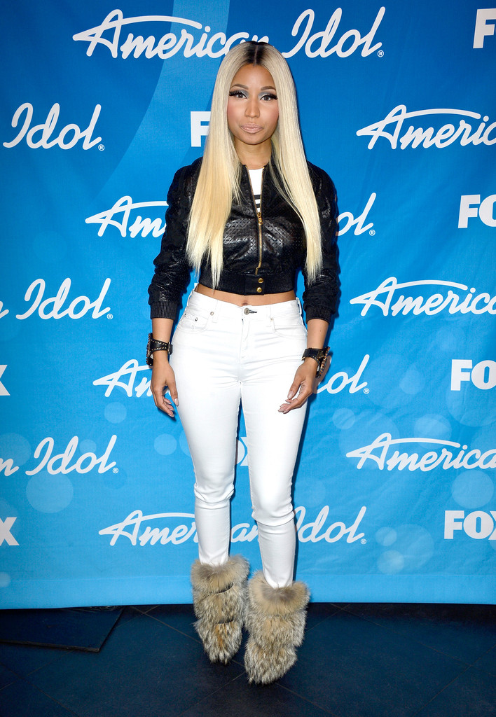 Nicki minaj leather jacket
