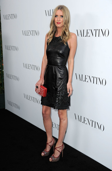 Nicky Hilton Leather Dress