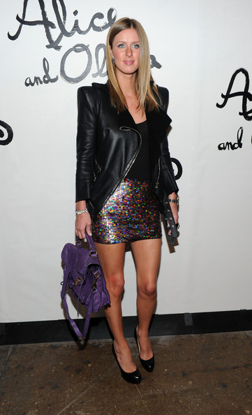 Nicky Hilton Leather Messenger Bag
