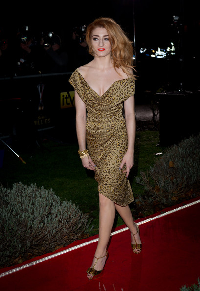 Nicola Roberts Off-the-Shoulder Dress
