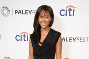 Nicole Beharie Cowl Neck Top