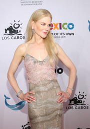 Nicole Kidman teamed some diamond bracelets with a beaded gown for total glamour at the Los Cabos International Film Festival.