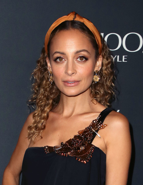 Nicole Richie Long Curls [hair,hairstyle,shoulder,eyebrow,long hair,chin,beauty,ringlet,brown hair,lip,working sundays series,nicole richie,nowwith,honey minx collection reveal,partnership,collection,spring place,beverly hills,california,yahoo lifestyle in partnership with working sundays series]