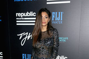 Nicole Scherzinger Beaded Dress