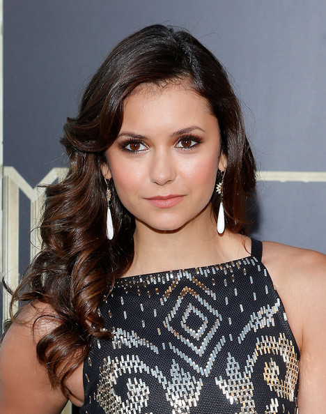 Nina Dobrev Long Curls