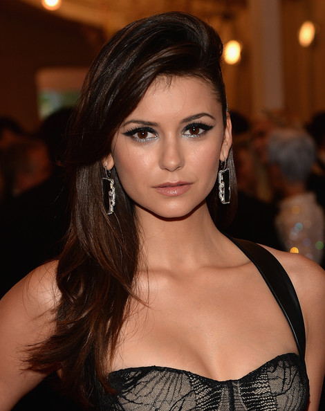 Nina Dobrev Long Side Part