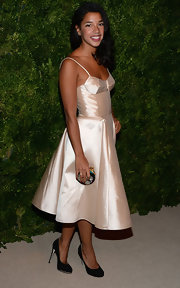 We totally swooned over Hannah's blush taffeta corset dress at the CFDA Fashion Fund Awards.
