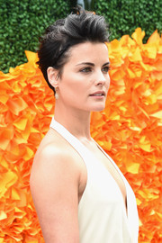 Jaimie Alexander went punk with this mussed-up short 'do for the Veuve Clicquot Polo Classic.